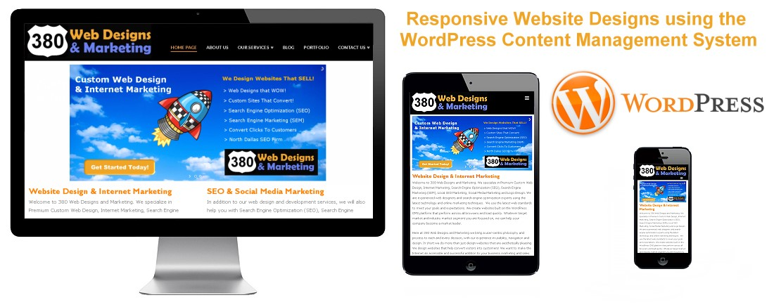 380 Web Designs - Responsive Website Designs using the WordPress CMS