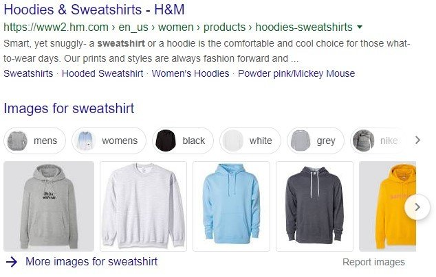 eCommerce store deals in clothing